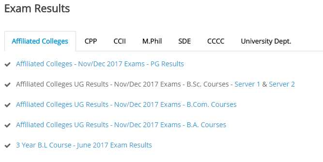 All Colleges Results
